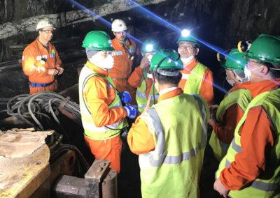 Kongressabgeordnete des Bezirks Yeongwol (Korea) besuchen die Panasqueira-Mine