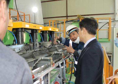 Provinzregierungsbeamte von Korea besuchen die Sangdong Mine