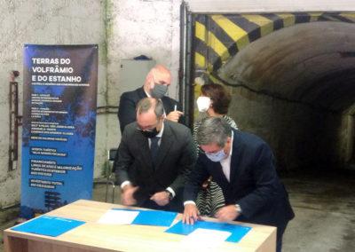 Ein Abkommen zur touristischen Entwicklung wurde gestern beim Mundloch der Panasqueira Mine unterzeichnet