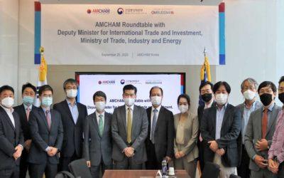 Ein Treffen zwischen Almonty und dem stellvertretenden Minister des MOTIE für die koreanische Zentralregierung fand auf Einladung der AMCHAM statt