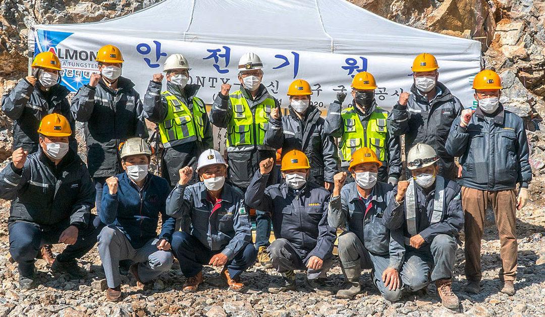 Bau des Monty B Portals in der Sangdong-Mine in Südkorea ist abgeschlossen