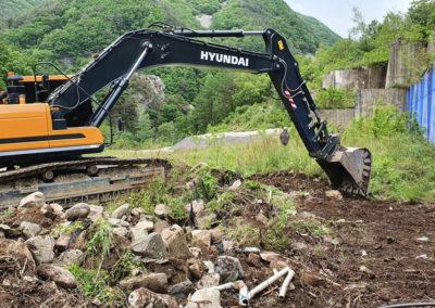 Das Straßen- und Flussumleitungsprogramm im Sangdong-Minenprojekt in Korea ist angelaufen.