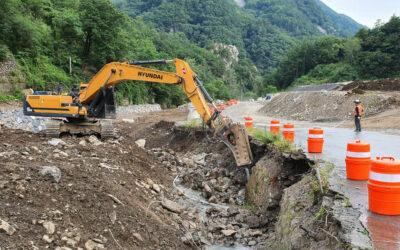 Das Straßen- und Flussumleitungsprogramm wird im Sangdong-Minenprojekt in Korea fortgesetzt